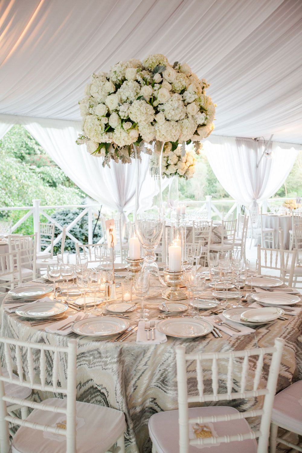 elegant ivory centerpiece centerpieces ivory and weddings