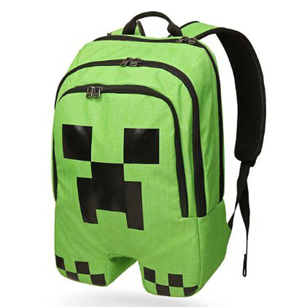 New Children School Minecraft Backpack Rucksack Student Book Bag Creeper Gift #Unbranded