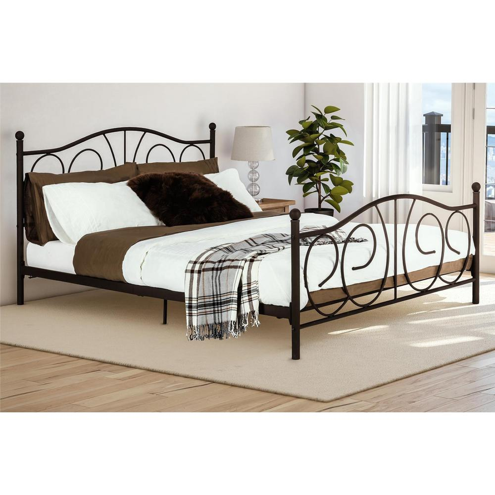 Vanya Bronze Full Bed Frame De83392 Full Bed Frame Metal Beds