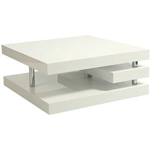 Best Pastel Viceroy Glossy White And Chrome Coffee Table 400 x 300