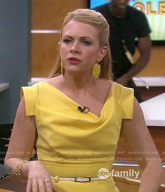 Cowl neck dress pinterest yellow