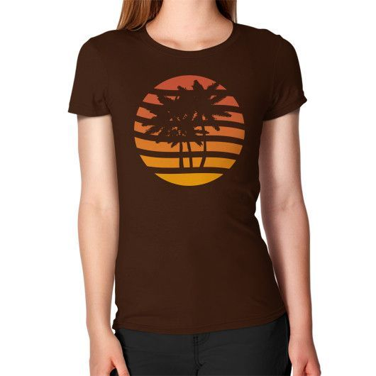Palm Trees Grunge Sunset Women's T-Shirt
