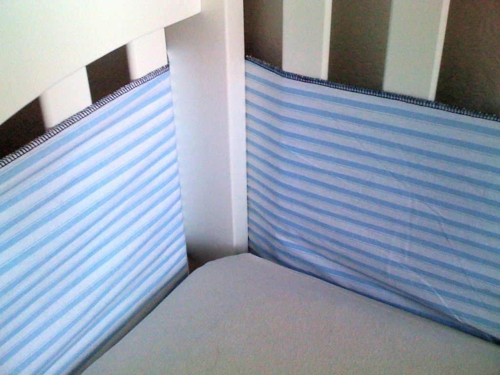 Crib protector for babies - Breathable Crib Bumper A Tutorial Liberatedmind