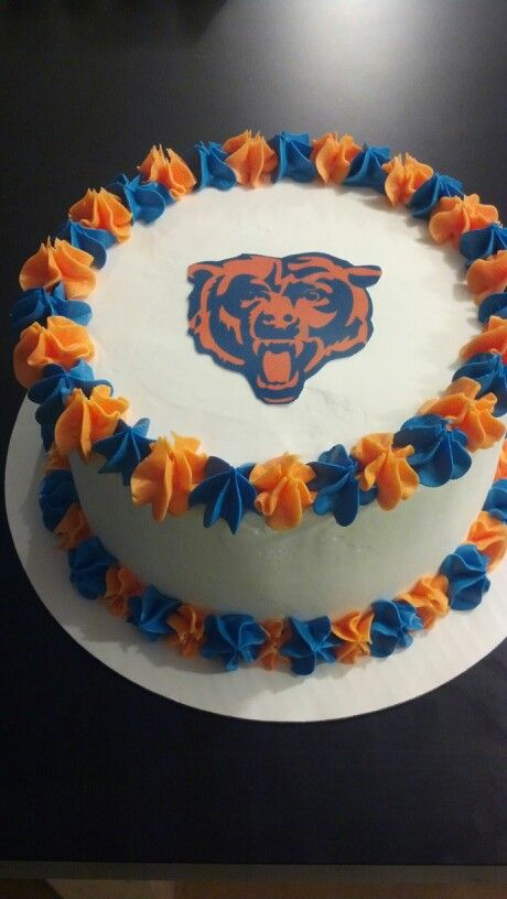 Cake Decorations Football Team : Chicago bears ice cream cake Cakes Pinterest Cream ...
