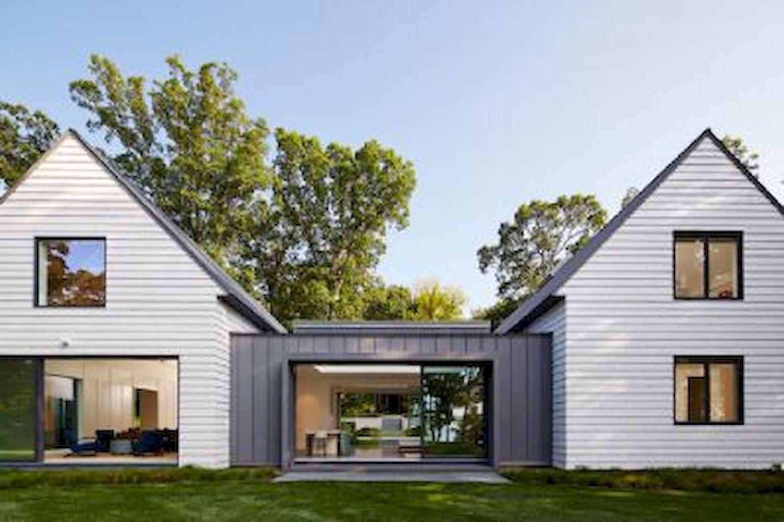 90 Incredible Modern Farmhouse Exterior Design Ideas 47 Modern Farmhouse Design Farmhouse Exterior Modern Farmhouse Exterior