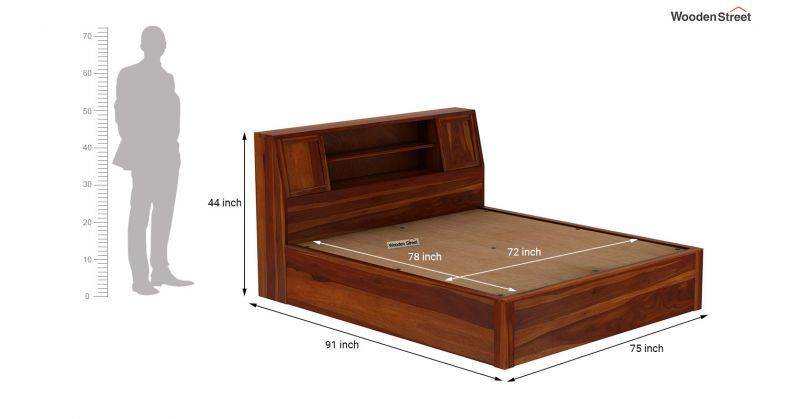 Best Buy Harley King Size Sheesham Wood Hydraulic Bed With 400 x 300