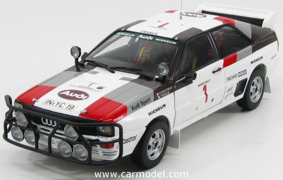 SUN-STAR 04227 1/18 AUDI QUATTRO A1 N 1 3rd RALLY SAFARI 1983 M.MOUTON - F.PONS Skala:: 1/18Code: 04227Farbe: WHITE RED GREYMaterial: Die-Cast