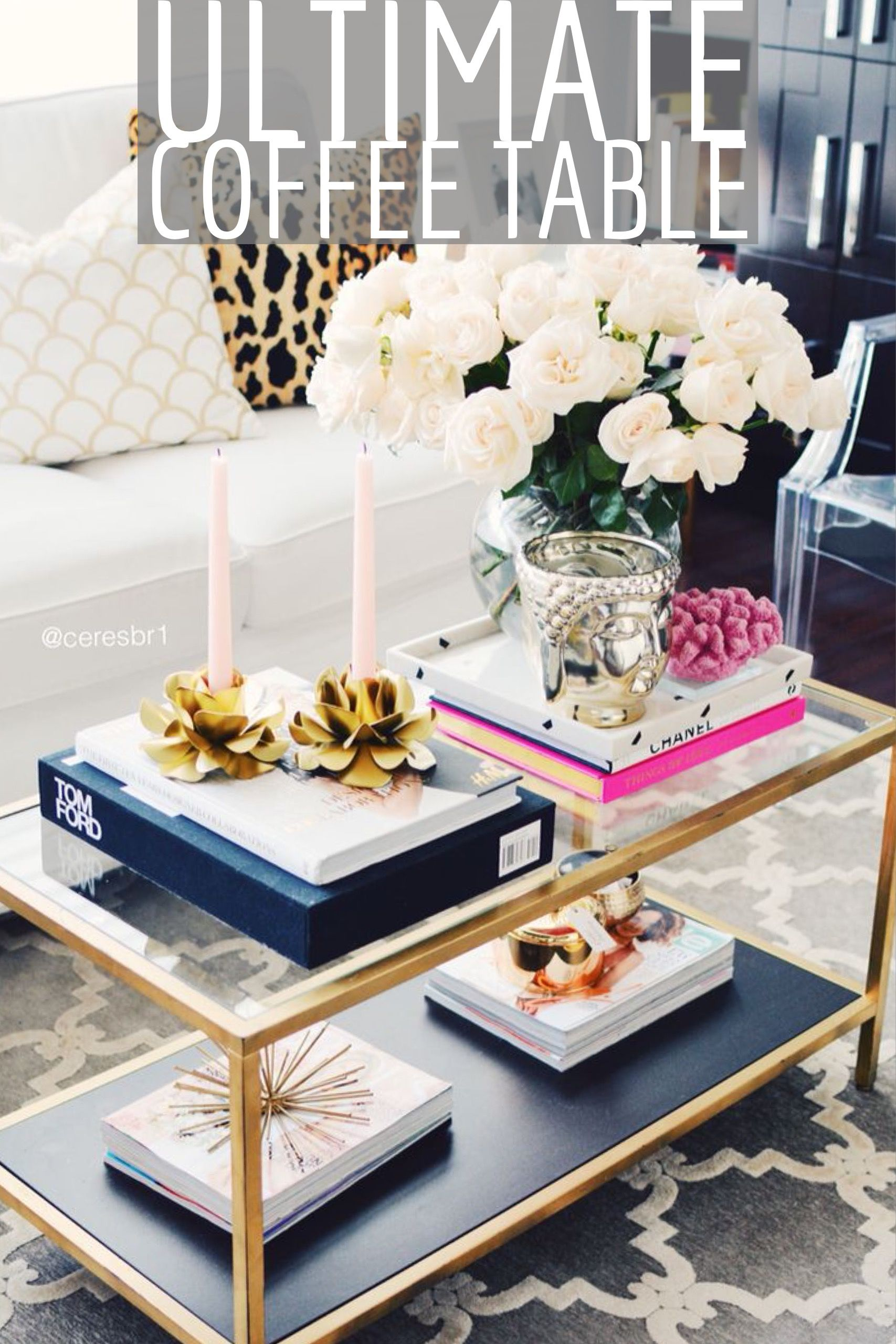 How To Design A Coffee Table With Candles Books Flowers And
