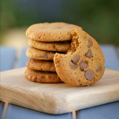 Peanut Butter Chocolate Chip Cookies (A secretly skinny recipe!) by Southern In Law