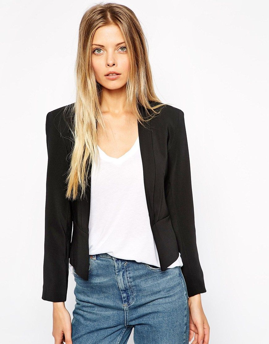 0ecea21d3d Image 1 of ASOS Cropped Blazer with Slim Lapel