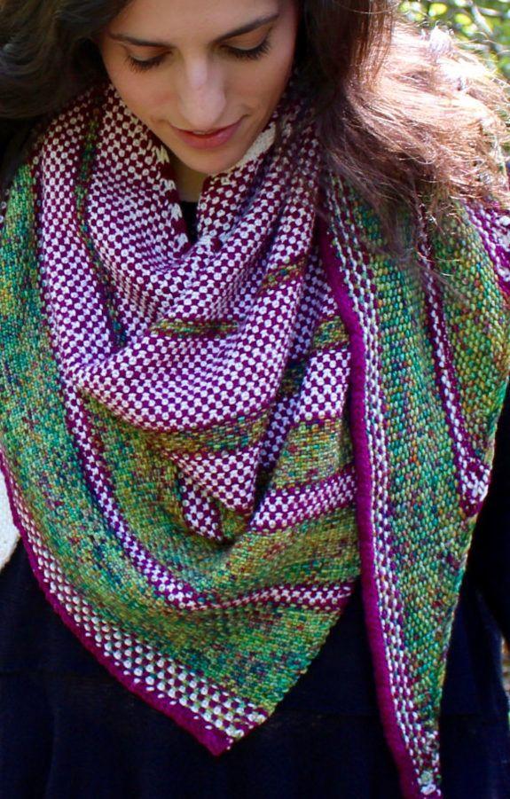 Knitting Pattern for Thistle Shawl - Triangular shawl knit ...