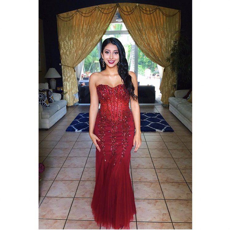 29138e783ba Jovani 5908 Red mermaid prom dress