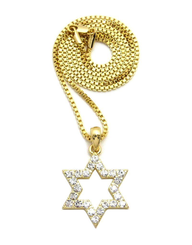 6 point star pendant 24 boxcubanrope chain hip hop necklace 6 point star pendant 24 boxcubanrope chain hip hop mozeypictures Gallery