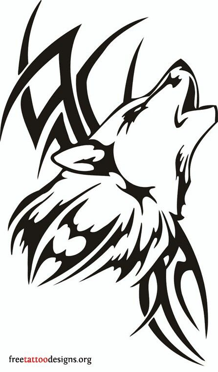 Cool Tribal Wolf Tattoo Design Tribal Wolf Tattoo Wolf Tattoos Tribal Tattoos