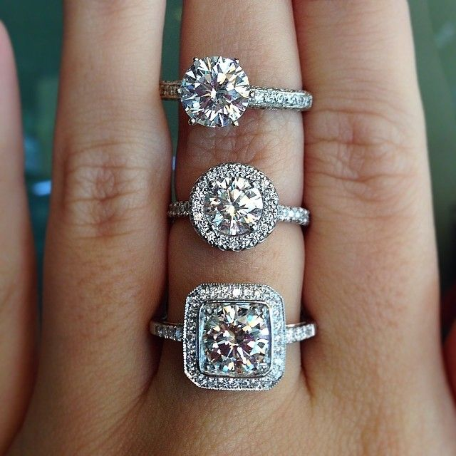 halo vs no halo engagement rings - Wedding Ring Vs Engagement Ring