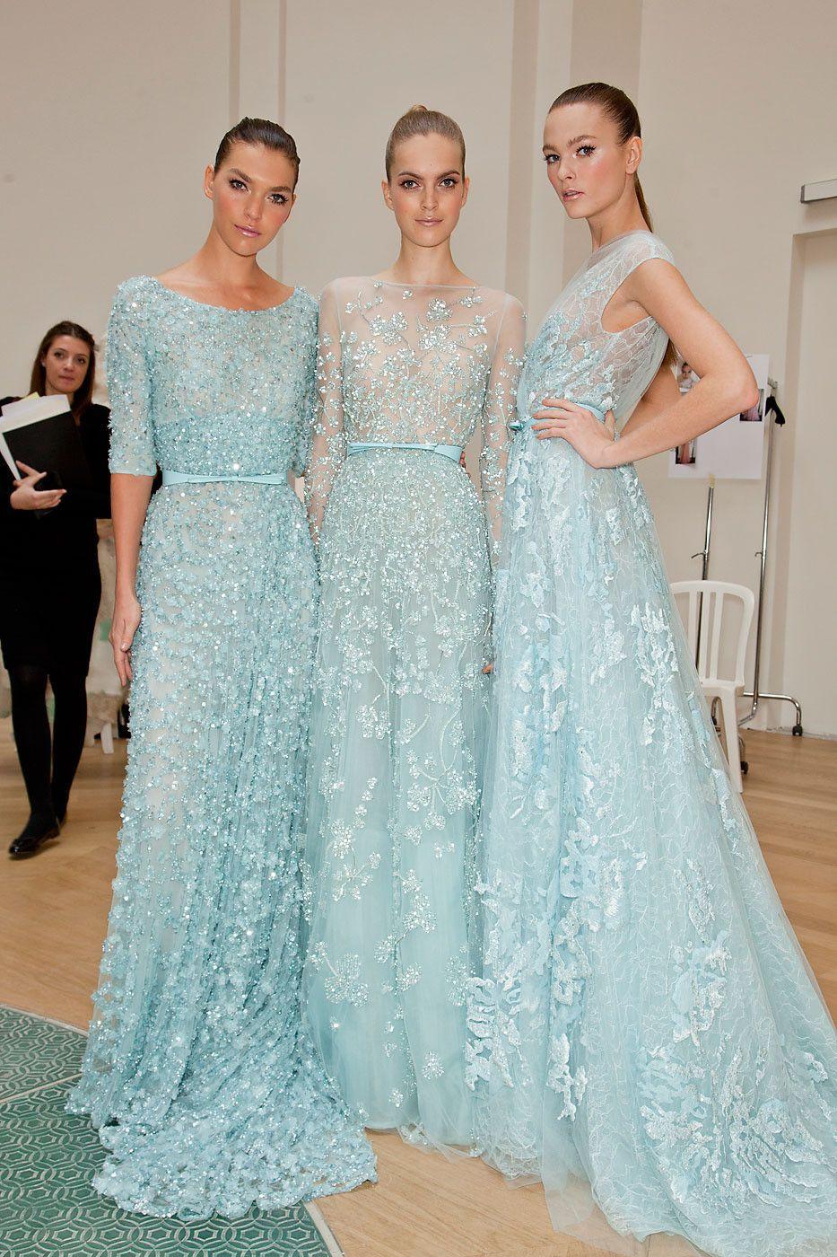 blue long dress elie saab 2014 | my style | Pinterest | Blue long ...