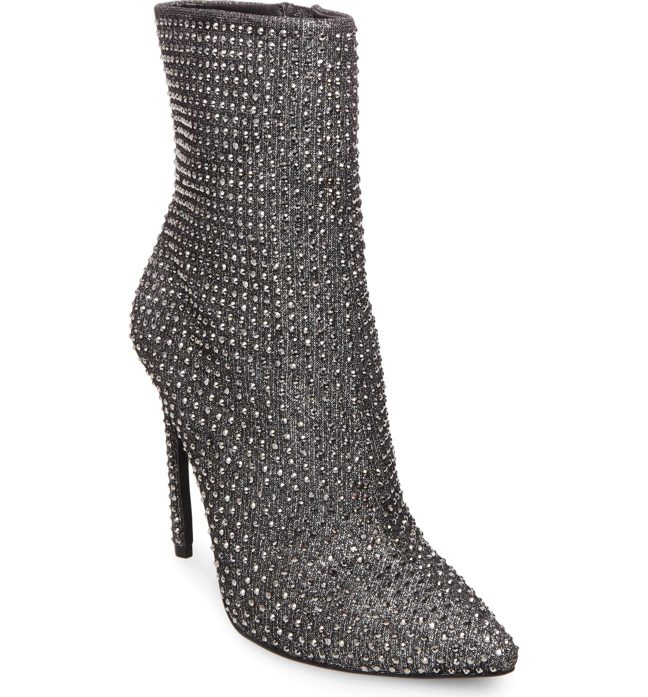 Así llamado Piscina cantante  Main Image - Steve Madden Wifey Bootie (Women) | Sparkly stilettos,  Rhinestone heels, Stiletto heels boots