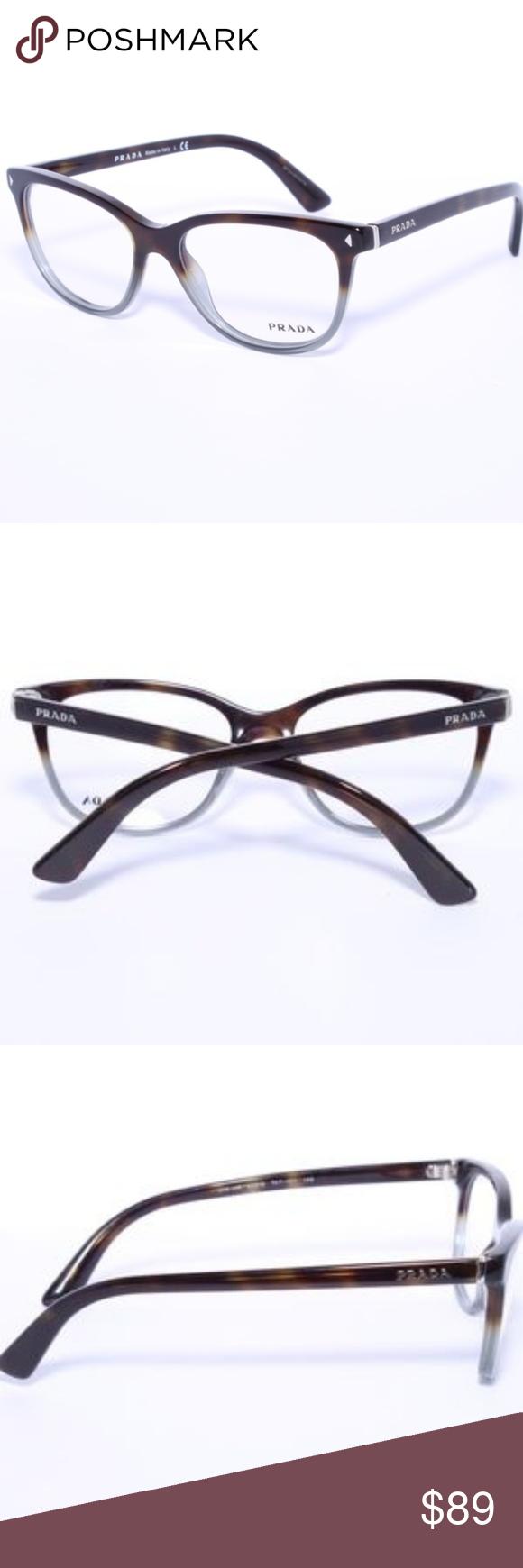 72e1d3628b Prada VPR 14R TKT-1O1 Dark Havana Eyeglasses 54mm