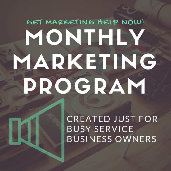 A monthly marketing program for service-based small business owners who don't have the time or energy for marketing! http://smallbizmarketing.strikingly.com/
