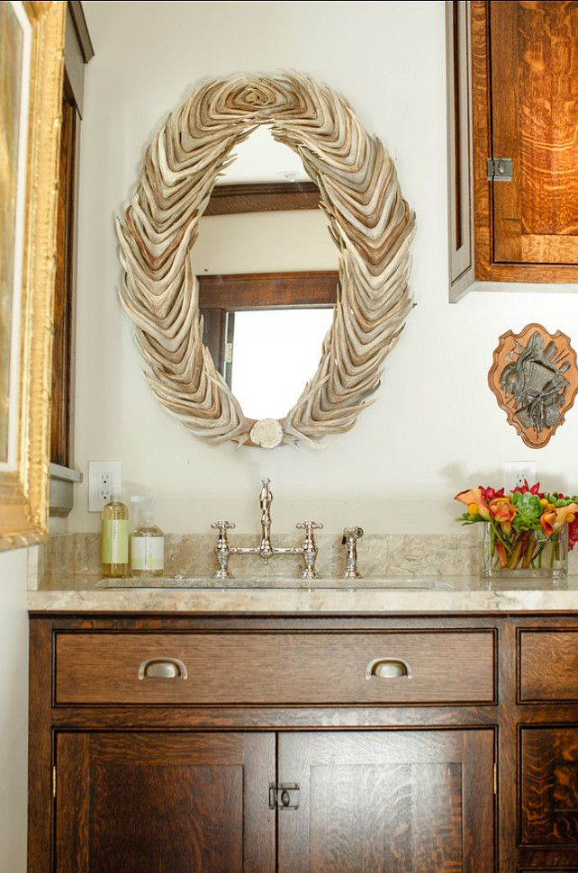 Country chic decor powder rooms