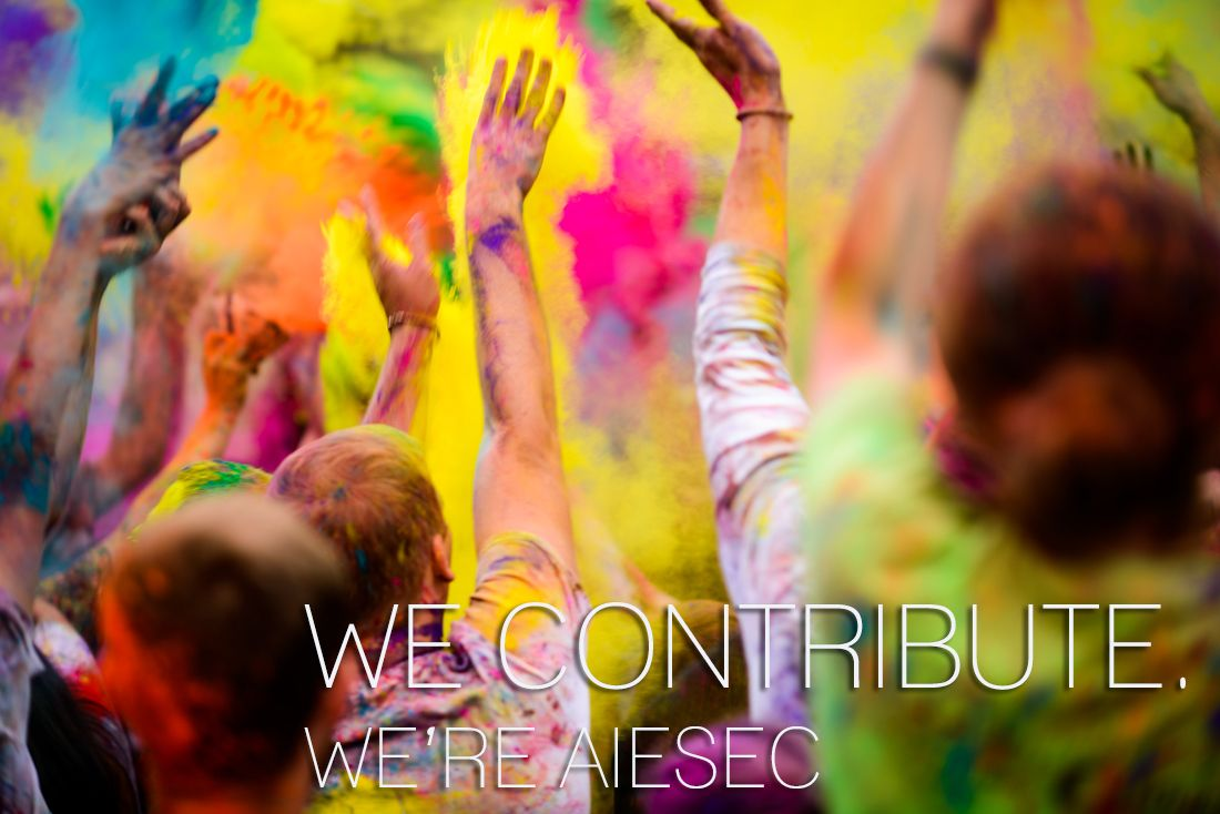 We contribute, We 're AIESEC!