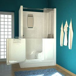 Shower Stall Tub Combo. walk in tub shower combo  home bath tubs showers meditub m2747