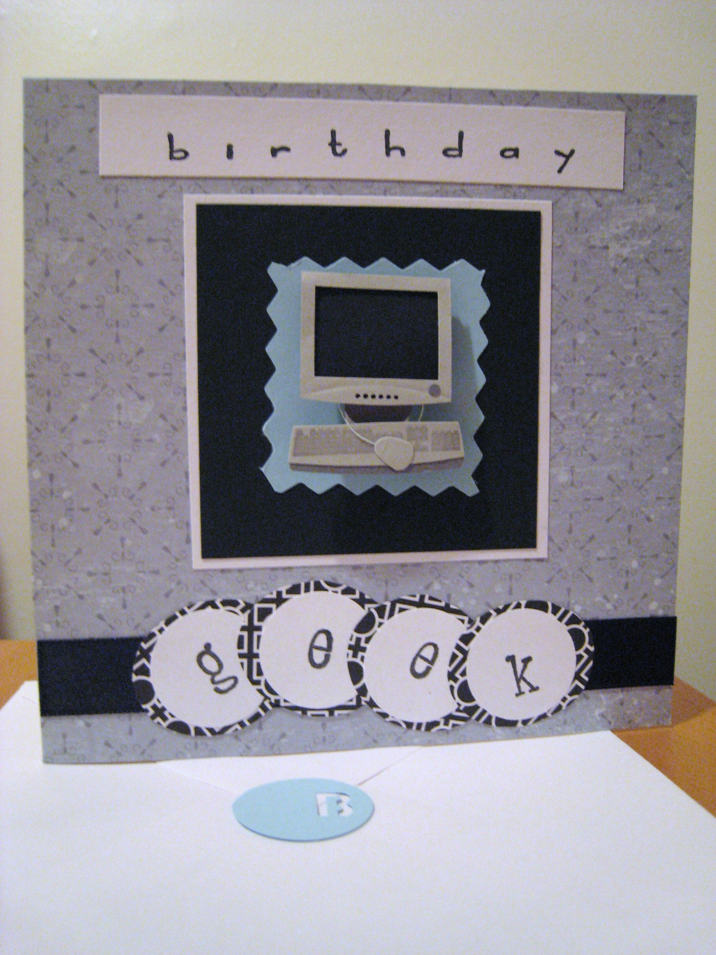 Birthday Geek computer card