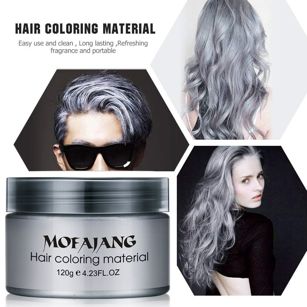 Hair Wax Temporary Hair Coloring Styling Cream Mud Dye Gray For Halloween Day Walmart Com Temporary Hair Color Grey Hair Wax Hair Color