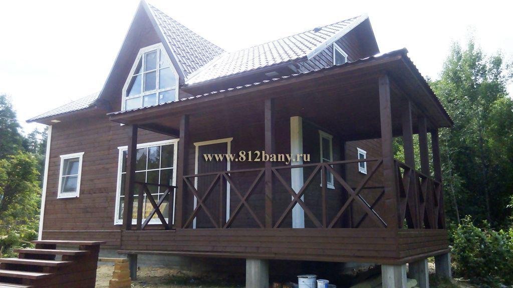 Оригинальный деревянный дом в СПб
