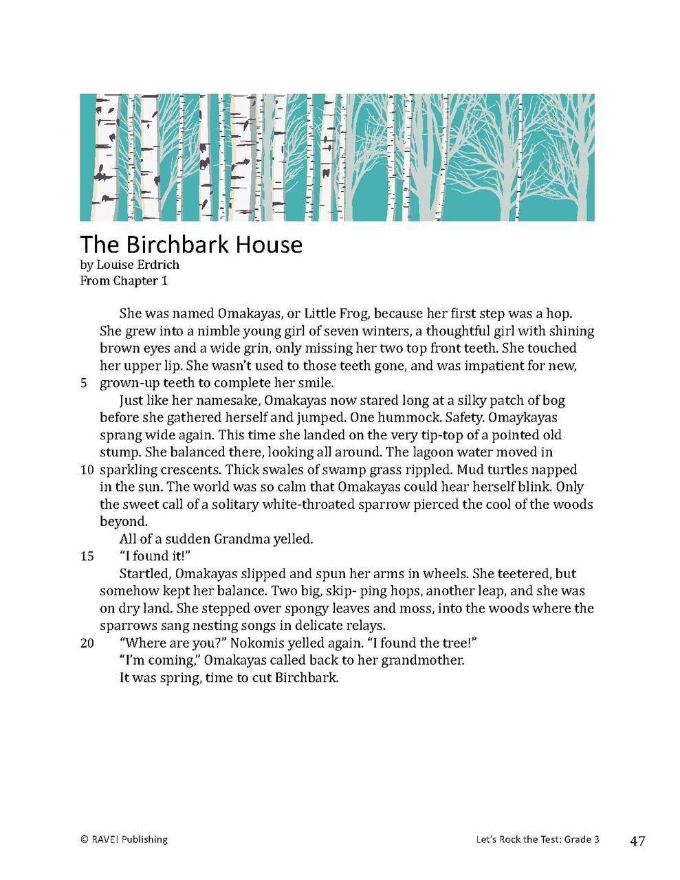 state assessment practice the birchbark house 3 multiple choice