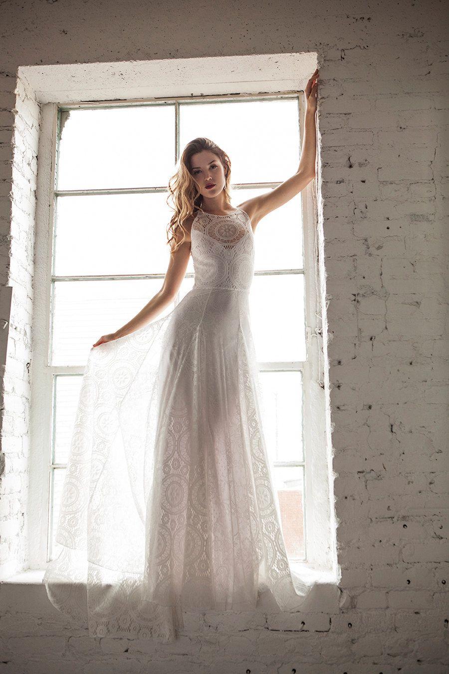 Indie Wedding Dress Simple Chic Wedding Dress by WearYourLoveXO ...