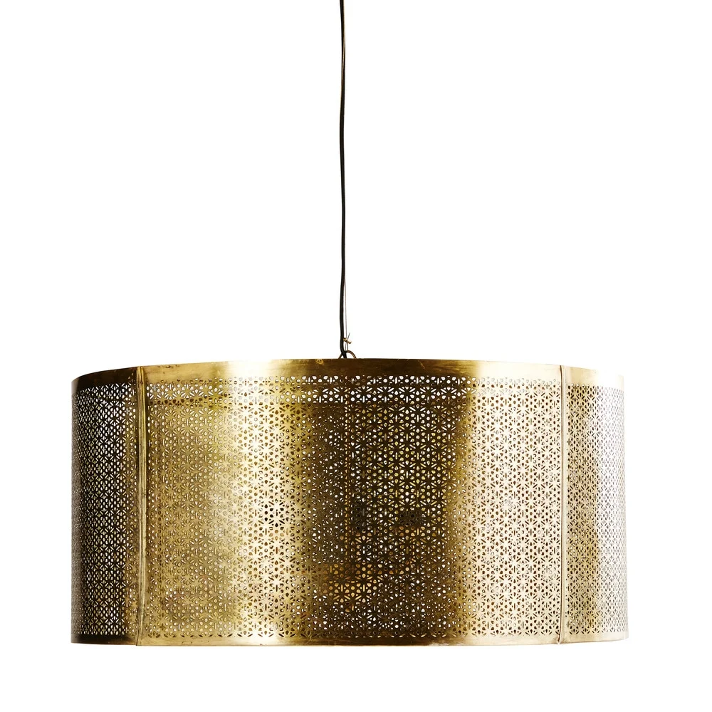Hangelampe Aus Ziseliertem Metall Goldfarben D77 Masala Maisons Du Monde Lampe Hange Lampe Mediterrane Lampen