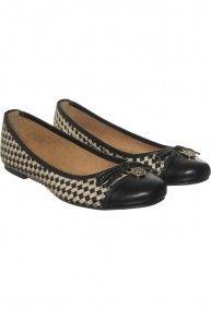 c49cfb09 Via Uno - Ballerinas 21518203 Napametalizado negro y dorado   Shoes ...