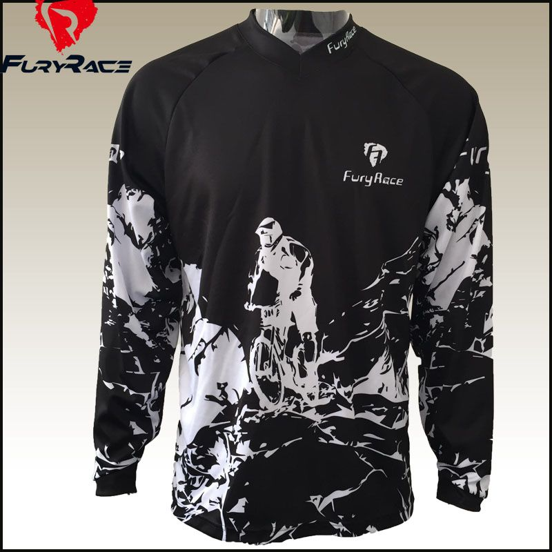 Aliexpress.com   Buy Fury Race More Models Men Mountain Bike Downhill Jerseys  MTB Motocross Motorcycle Cycling Jersey Bicycle Shirts DH Clothing from ... 362897a72