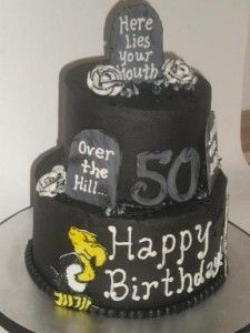 50th Over the hill cake 50th birthday cakes for men Pinterest