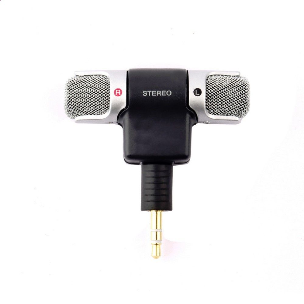 Mini Stereo Microphone 3.5mm Plug Mic Microphones Adapter Mini Jack for Smart Phone PC Laptop Notebook Sports Camera