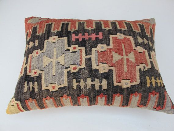 Modern Bohemian Home DecorTurkish Kilim Pillow by decorpillow