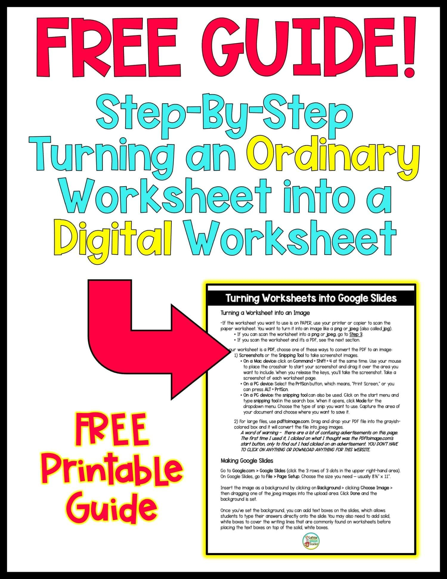 Step By Step Convert Worksheets For Distance Learning