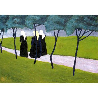 Werner Berg, Frauen auf dem Weg, 1934
