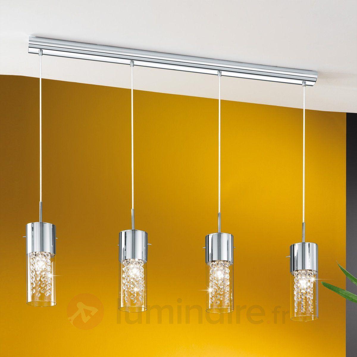 Charmante suspension diamond 4 ampoules lampe suspension Luminaire led cuisine