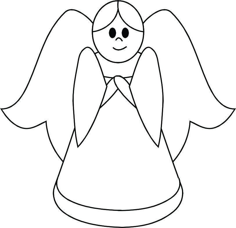 Angel easy. Cartoon angels to draw