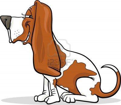 Stock Vector Cute Dog Cartoon Basset Hound Dog Dog Poster