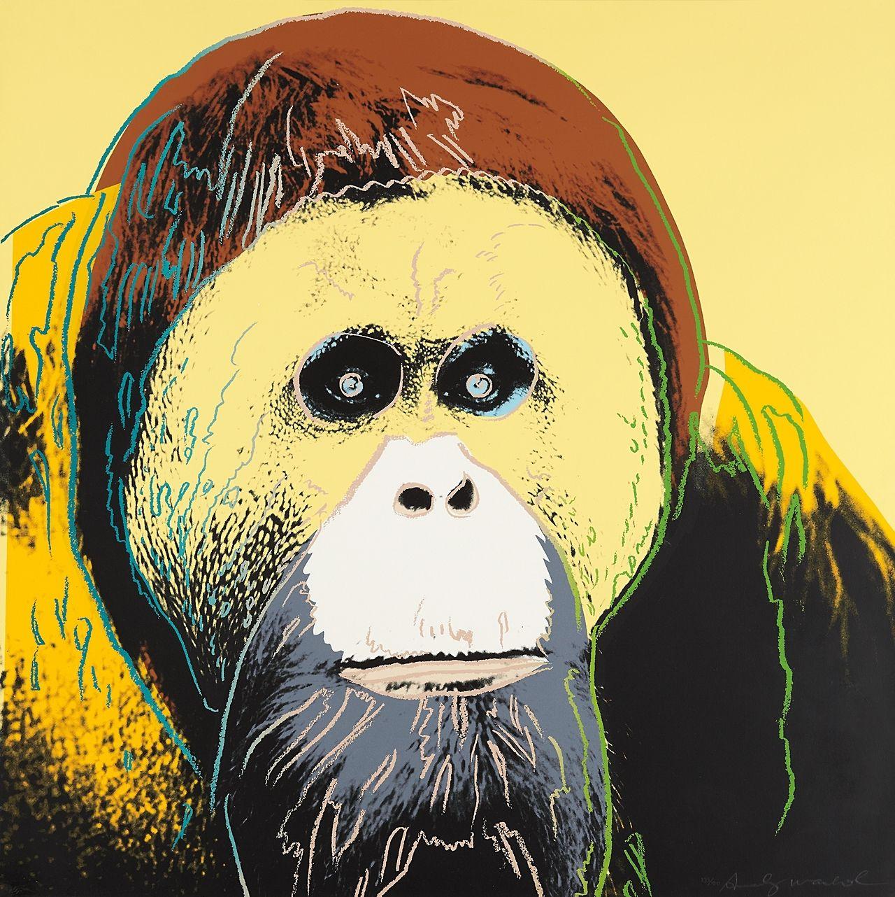 ANDY WARHOL (1928-1987) - Orangutan, from Endangered Species, 1983