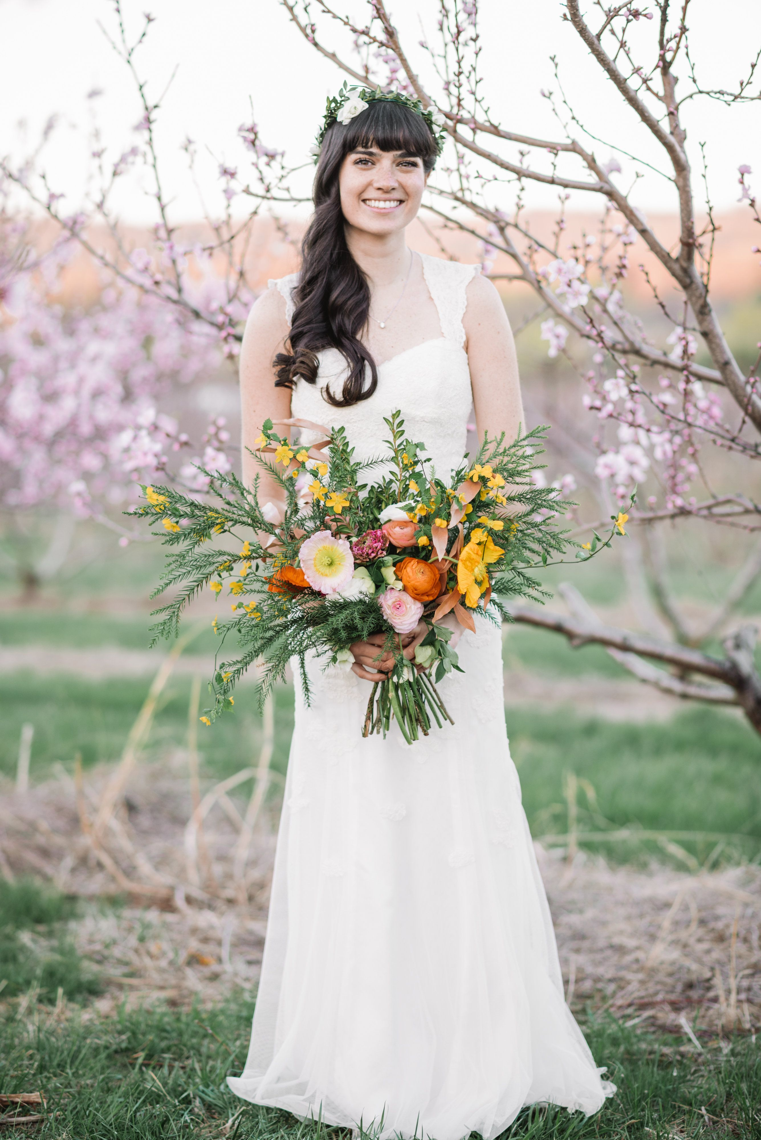 Whimsical outdoor wedding bridal poses bridal portraits and weddings