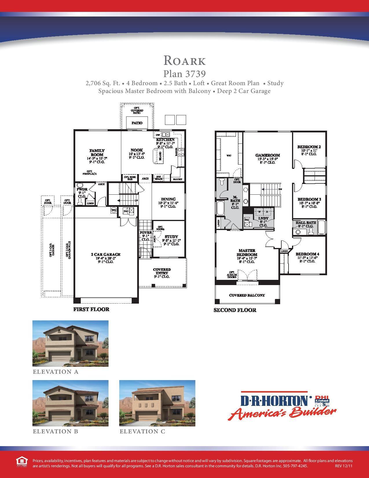 Dr Horton Roark Floor Plan Loft Floor Plans Floor Plans Studio Apartment Layout