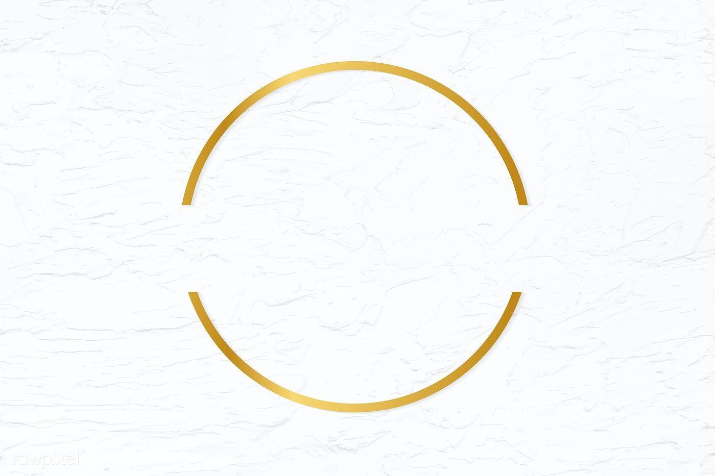 Golden Framed Semicircle On A Stucco Wall Textured Vector Free Image By Rawpixel Com Adj Frame Logo Gold Circle Frames Logo Design Set