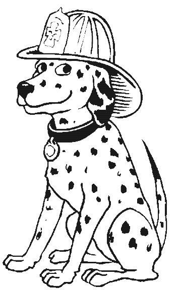 dalmation coloring pages fire