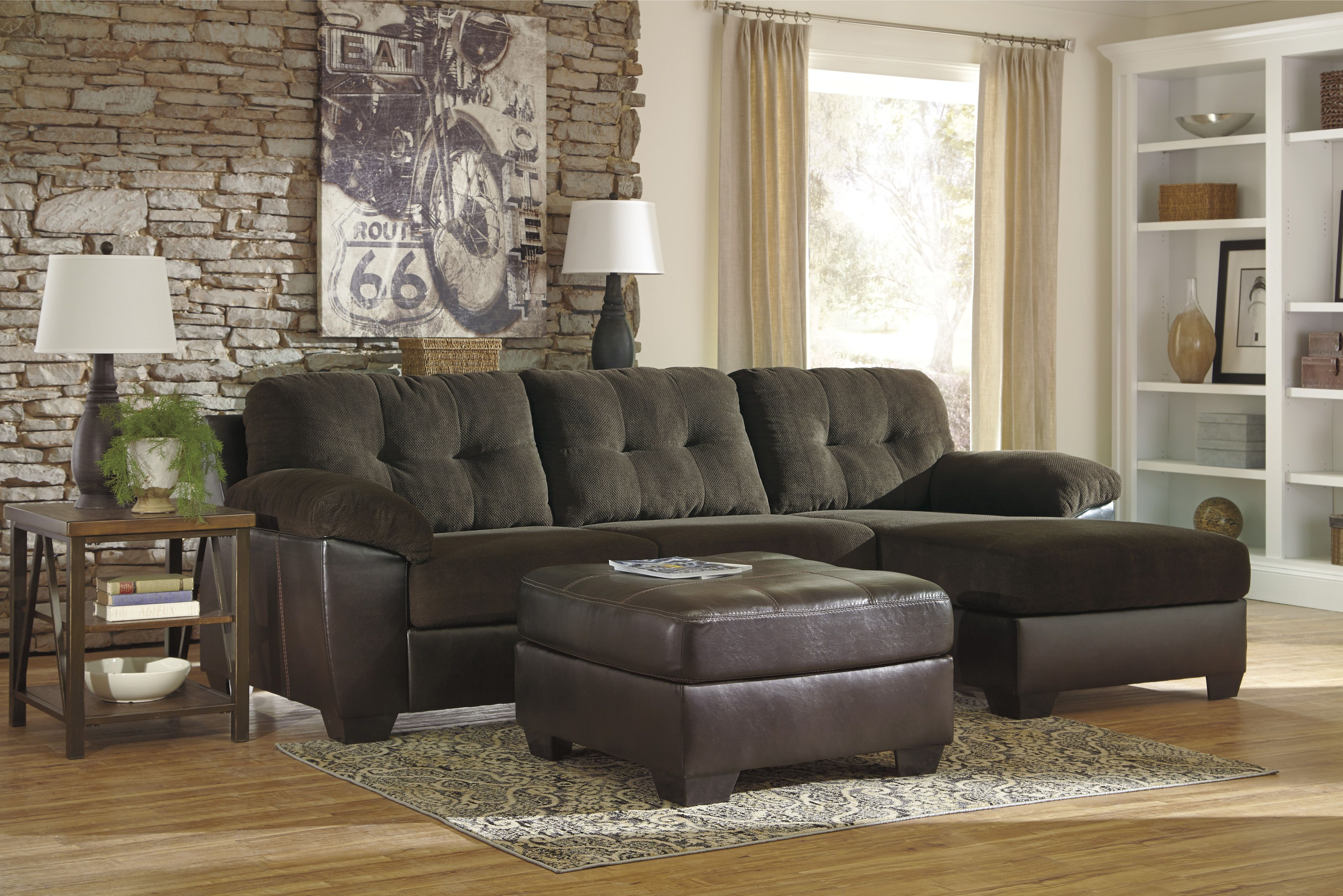 Ashley vanleer sectional wottoman furniture ashley