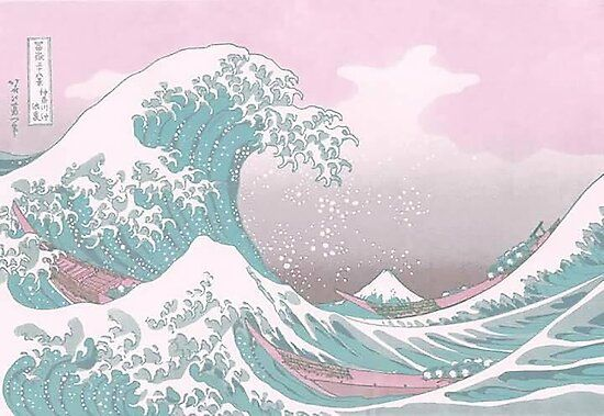'Pastel The Great Wave off Kanagawa' Poster by Freshfroot