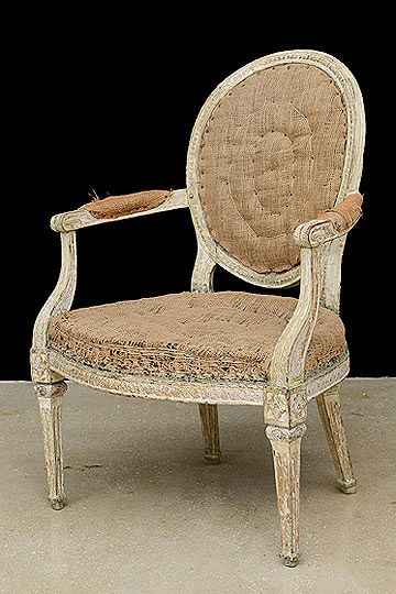 Antique Swedish 18th Century Period Painted Armchair. Antique Swedish 18th Century Period Painted Armchair
